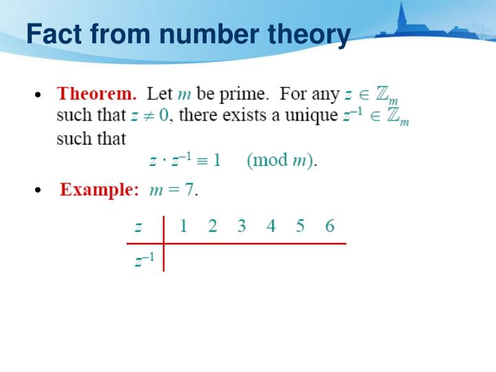 Fact from number theory