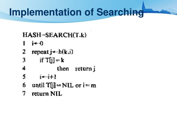 Implementation of Searching