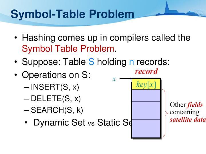 Symbol table problem