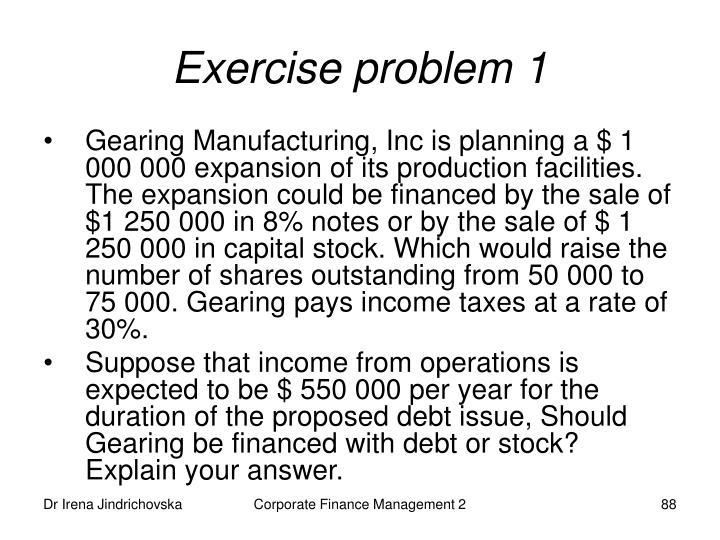 Exercise problem 1