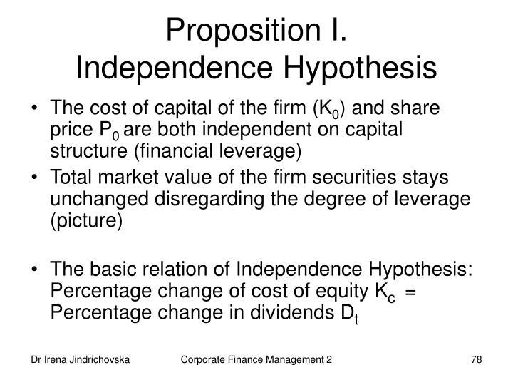Proposition I.