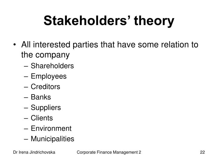 Stakeholders' theory