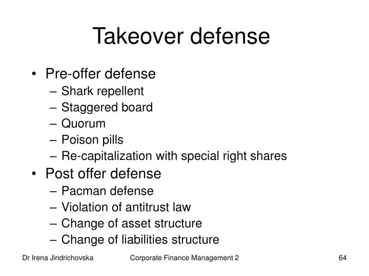 Takeover defense