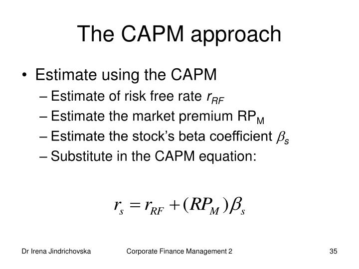 The CAPM approach