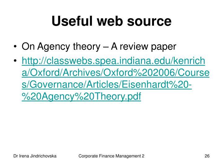 Useful web source