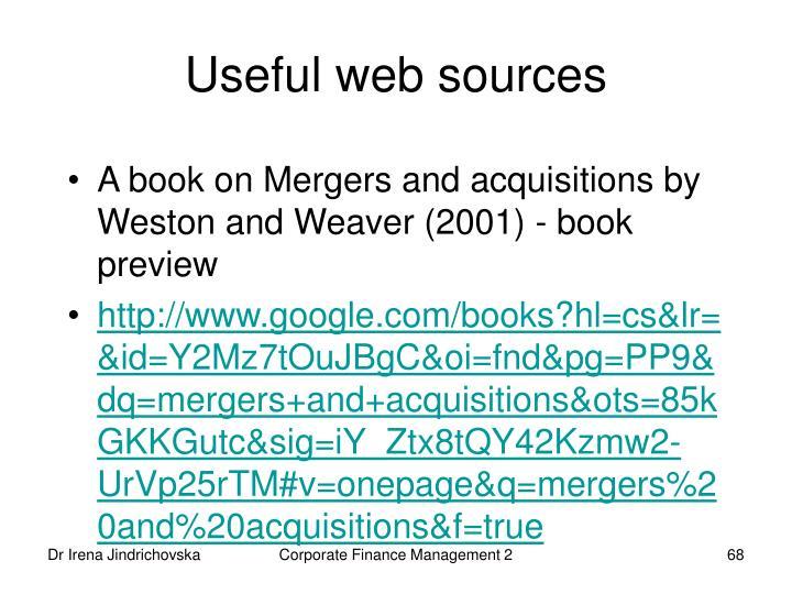 Useful web sources