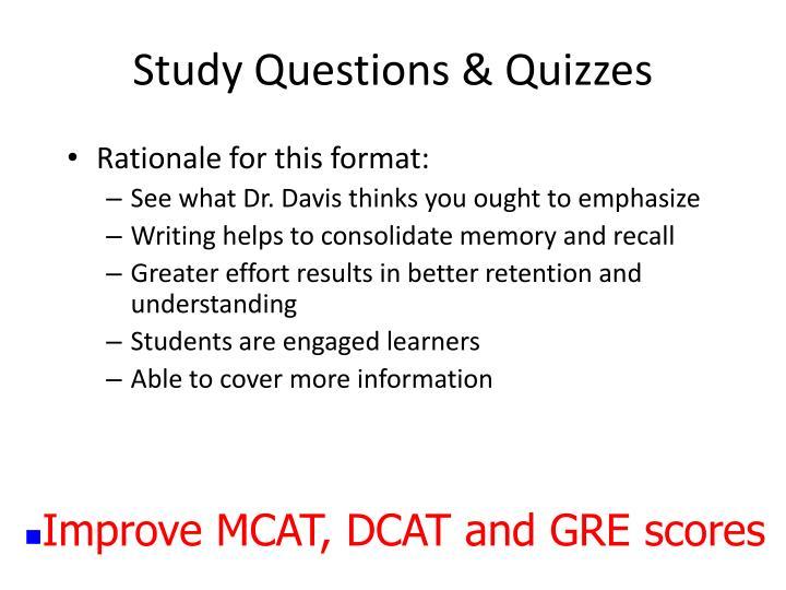 Study Questions & Quizzes