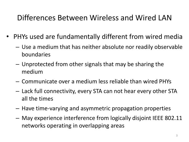 Differences between wireless and wired lan1