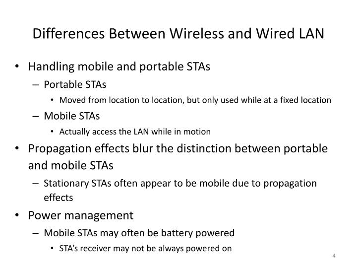 Differences Between Wireless and Wired LAN