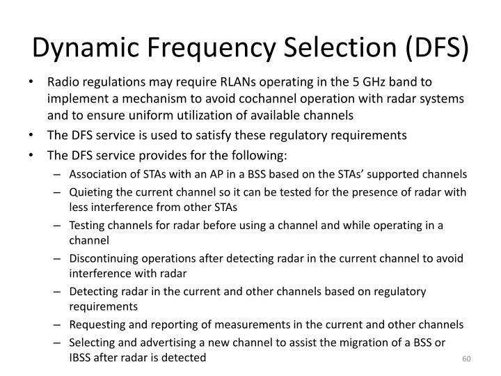 Dynamic Frequency Selection (DFS)