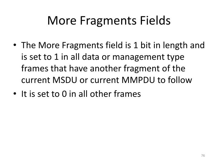 More Fragments Fields