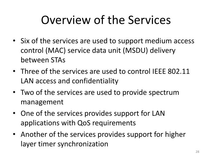Overview of the Services