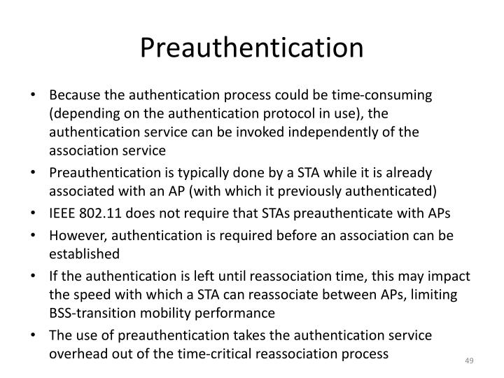 Preauthentication