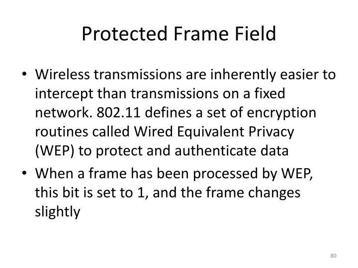 Protected Frame Field