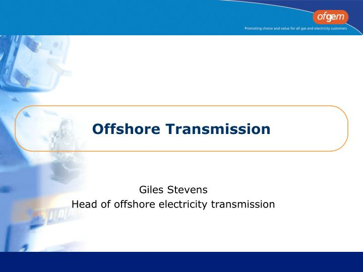 Offshore transmission