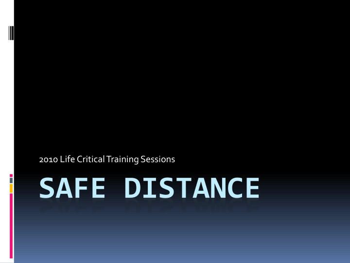 2010 life critical training sessions n.