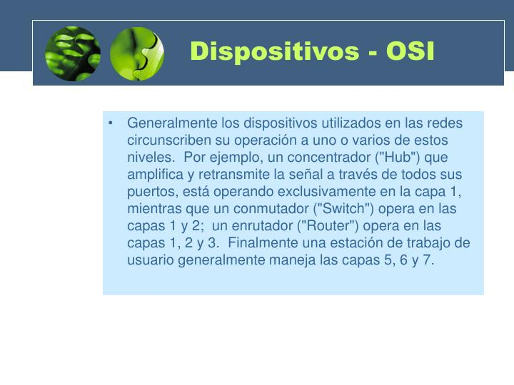 Dispositivos - OSI