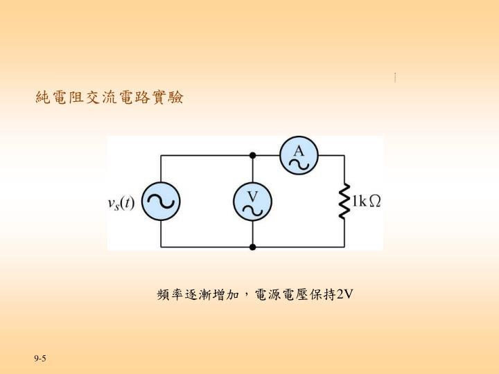 實習一 交流電壓與電流的實驗