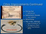 cities improvements continued