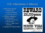 u s intervenes in mexico