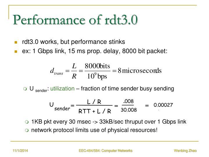 Performance of rdt3.0