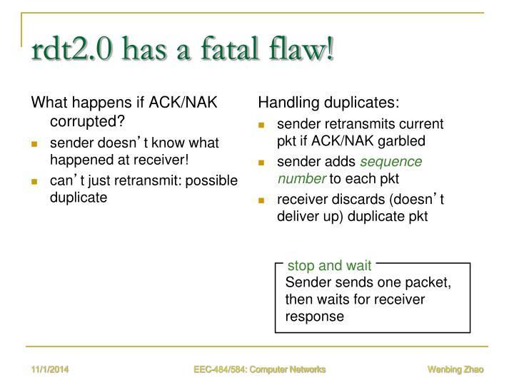 rdt2.0 has a fatal flaw!