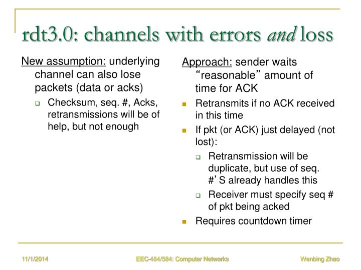 rdt3.0: channels with errors
