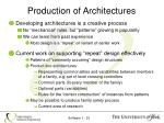 production of architectures