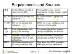 requirements and sources