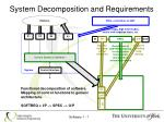 system decomposition and requirements2