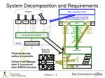 system decomposition and requirements3