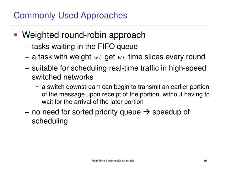 Commonly Used Approaches