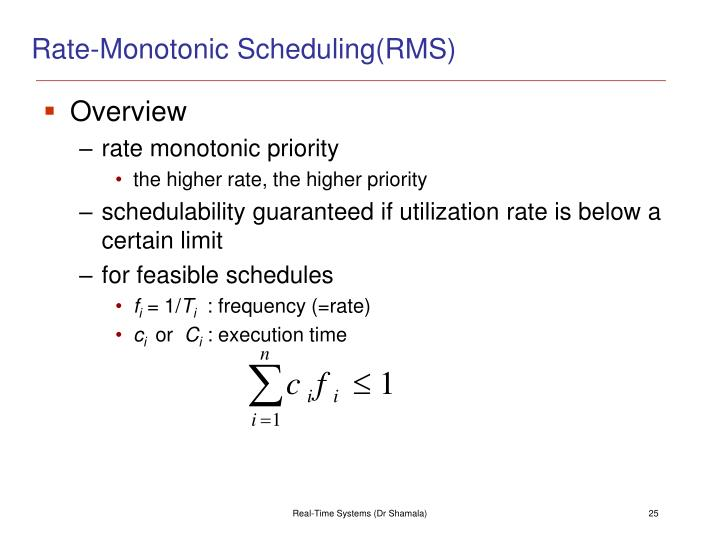 Rate-Monotonic Scheduling(RMS)