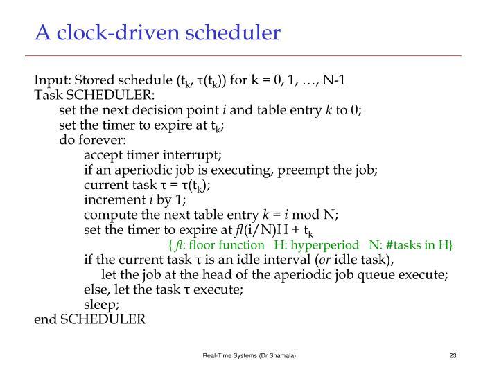A clock-driven scheduler