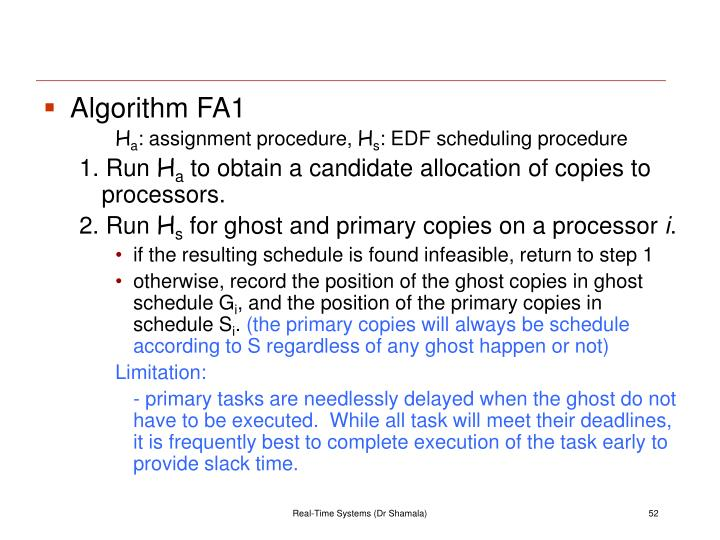 Algorithm FA1