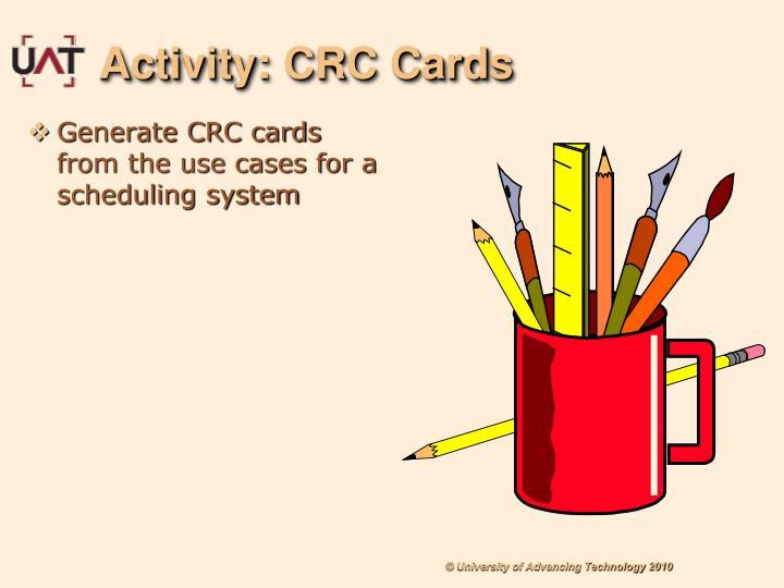 Activity: CRC Cards
