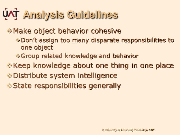 Analysis Guidelines