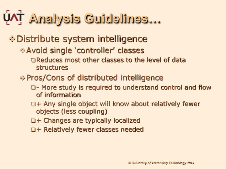 Analysis Guidelines…
