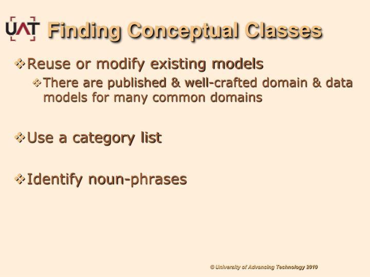 Finding Conceptual Classes