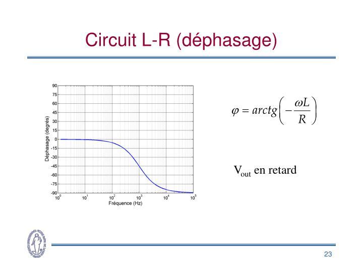 Circuit L-R (déphasage)