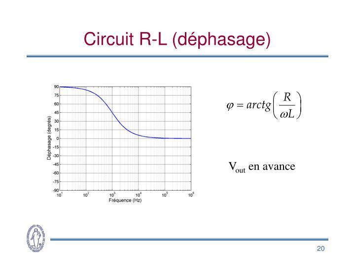 Circuit R-L (déphasage)