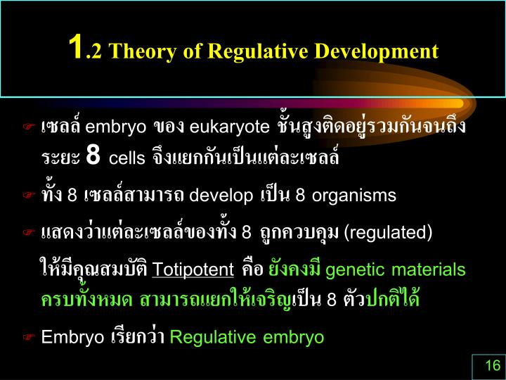 1.2 Theory of Regulative Development