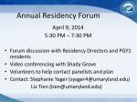 annual residency forum