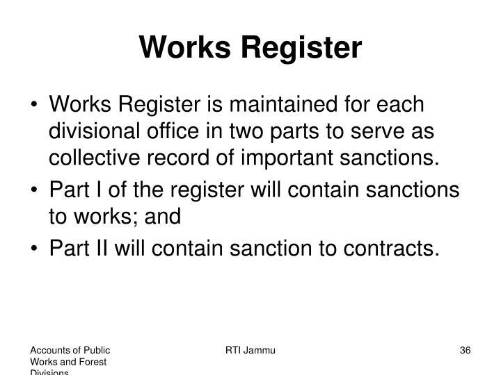 Works Register