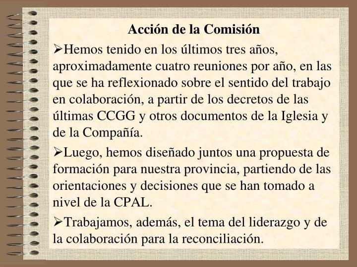Acción de la Comisión