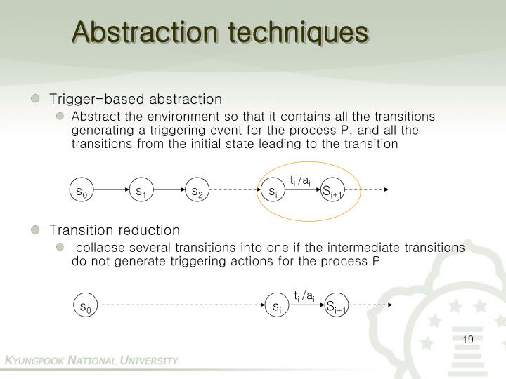 Abstraction techniques