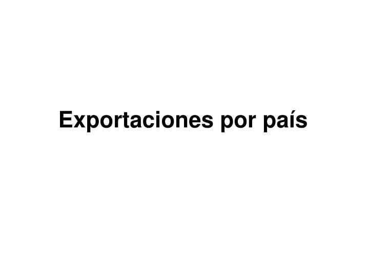 Exportaciones por país