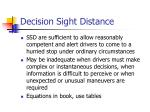 decision sight distance