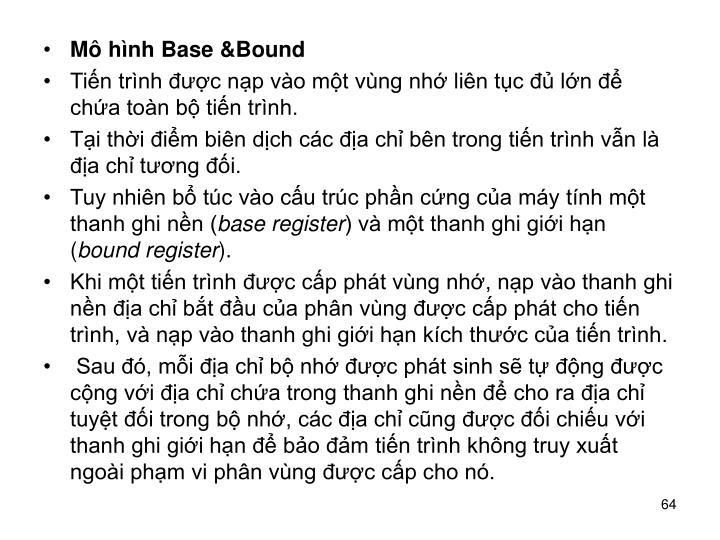 Mô hình Base &Bound