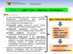 paso 3 definir ejes y objetivos estrat gicos